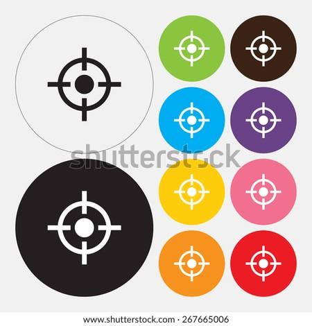 Target icon - Vector - stock vector