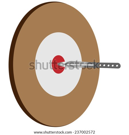 Target knife, competition, dartboard, knife vector, isolated  on white - stock vector