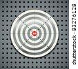 Target on steel background - stock vector