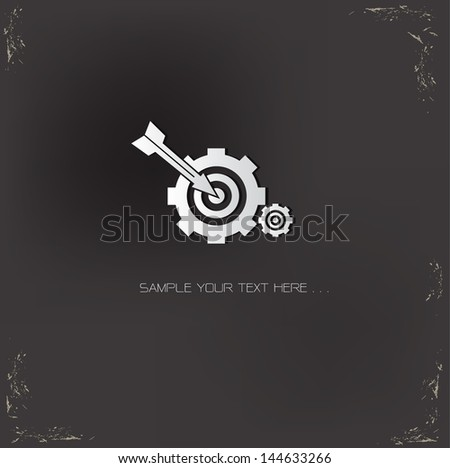 Target symbol on grunge background - stock vector