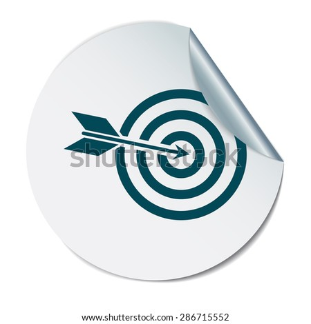 target symbol. sporty character. hit the target