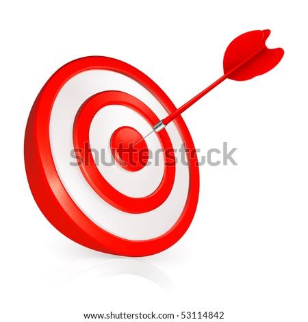 Target, vector - stock vector