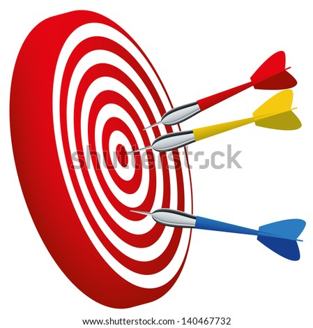 target vector illustration isolated in red eps 8 / target vector / ml1413 - stock vector