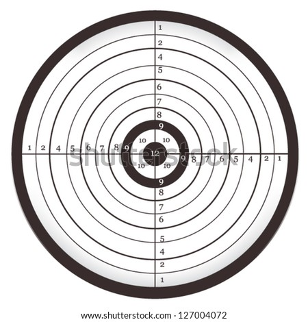 Target with numbers, Bull's Eye, Aim, Shooting ...
