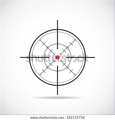 target with red dot - illustration - stock vector