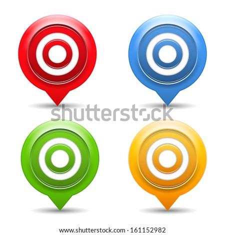 Targets on white background, vector eps10 illustration - stock vector
