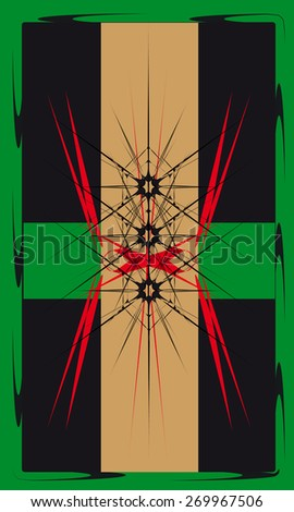 Tarot cards - back design, abstract pattern - stock vector