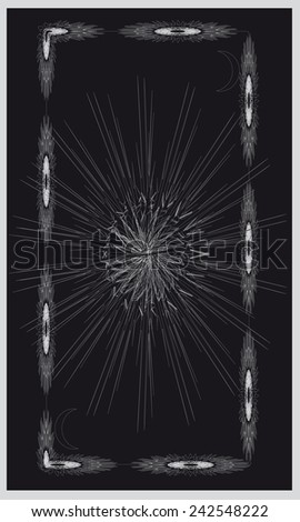 Tarot cards - back design. Northern sun - stock vector