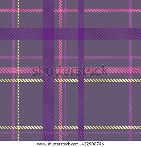 Tartan pattern. Scottish traditional fabric seamless vector. Bright background. Suitable for children, decoration paper, home, design, concept, clothing, handicraft & scrap booking. - stock vector
