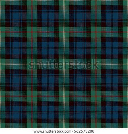 Tartan seamless pattern background blue black stock vector for Blue and green tartan shirt