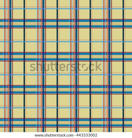 Tartan yellow seamless pattern. Fashion graphic background design. Modern stylish abstract texture. Colorful template for prints, textiles, wrapping, wallpaper, website. VECTOR illustration
