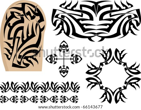 Tattoo sleeve stock images royalty free images vectors for Vector tattoo sleeve