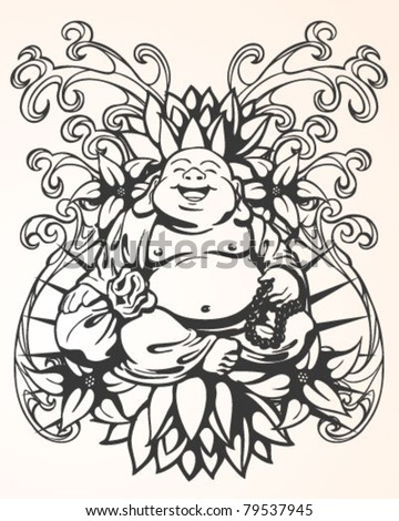 Tattoo Buddha Design - stock vector