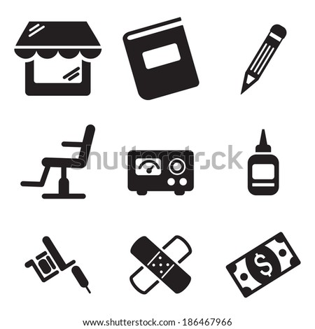 Tattoo Icons - stock vector