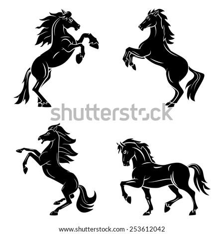 Tattoo Symbol Of Horse Tattoo - stock vector