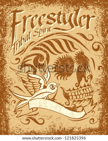 tattoo tribal style - stock vector