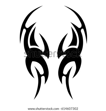 Image Result For Tribal Fire Flame Tattoo Set Royalty Free Vector