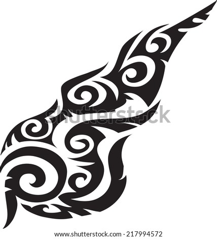 tattoo vector for Back and arms.