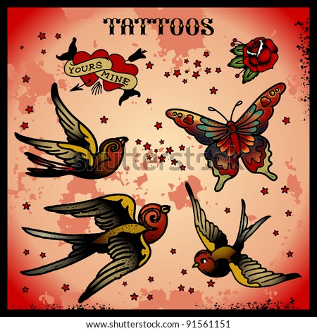 tattoos - stock vector