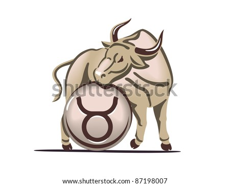 Taurus zodiac sign - stock vector