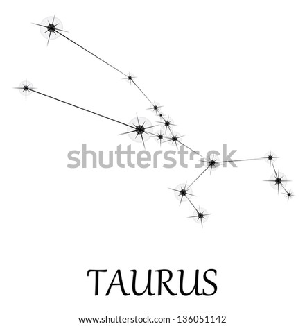 Taurus Zodiac sign. Vector - stock vector