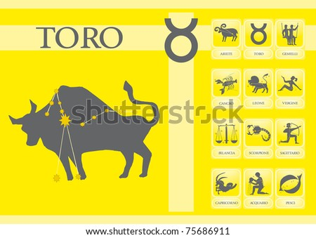 Taurus Zodiacal - stock vector