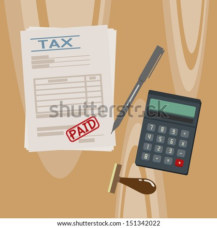 tax - stock vector