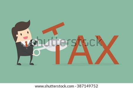 Tax Deduction. Business Concept Cartoon Illustration. - stock vector