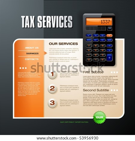 Tax Firm web template - stock vector