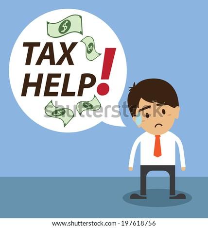 Tax help - stock vector