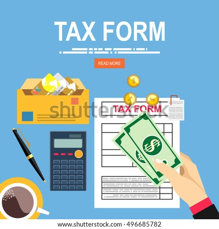 pay tax taxes money icon income stock vector 323456642