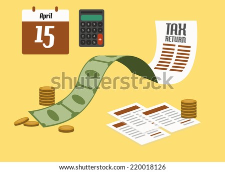 Tax return concept. flat design. vector illustration - stock vector