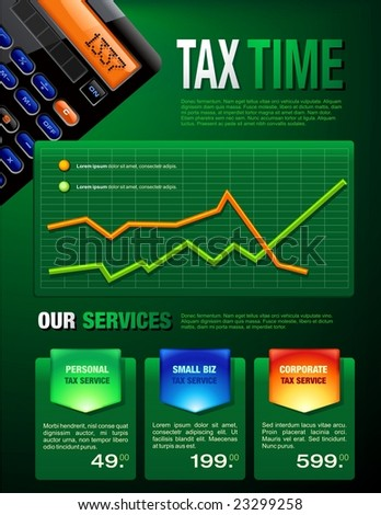 Tax Services Brochure - stock vector