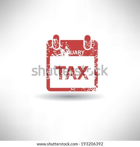 Tax symbol,grunge vector - stock vector