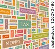 TAX. Word collage. Vector illustration. - stock photo