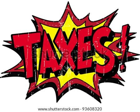 taxes - stock vector