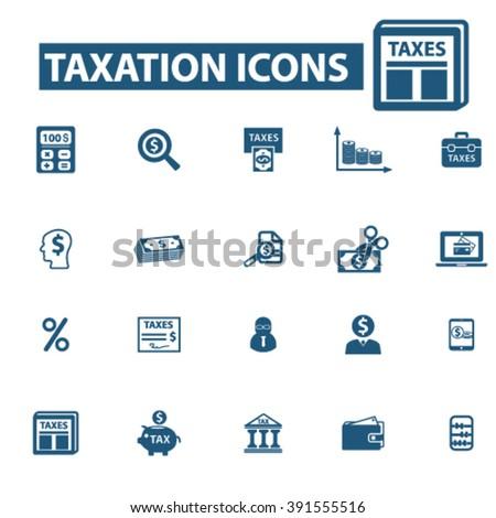 taxes icons - stock vector