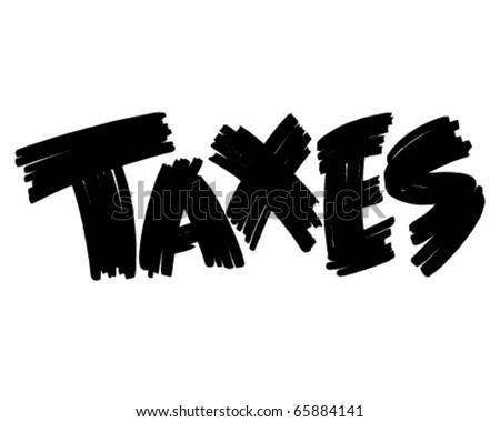 Taxes Sign - Ad Banner - Retro Clipart - stock vector