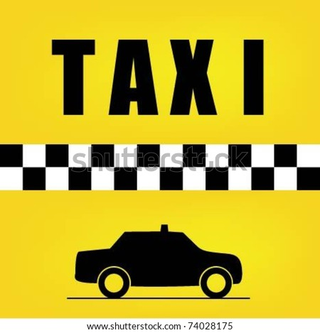 Taxi Background - stock vector