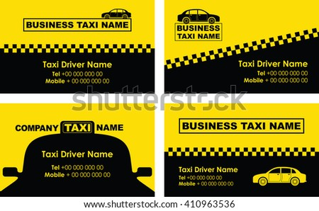 taxi background business card - stock vector