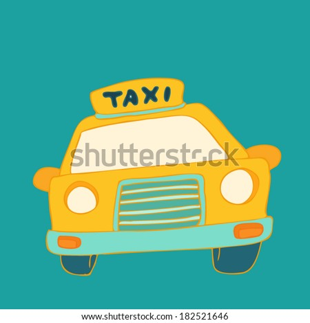 Taxi cab sign - stock vector