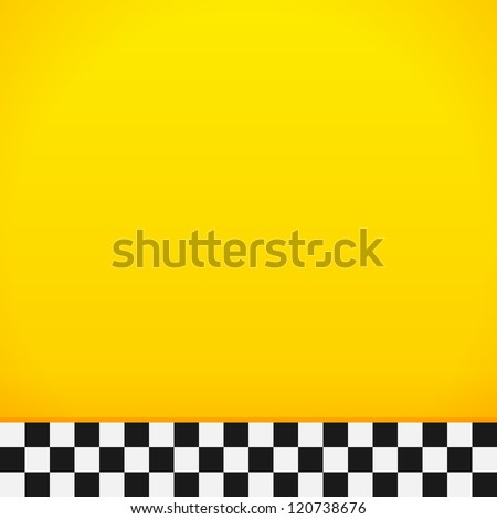 Taxi Checkerboard Pattern - Bottom tiles full of yellow and black and white colors - stock vector