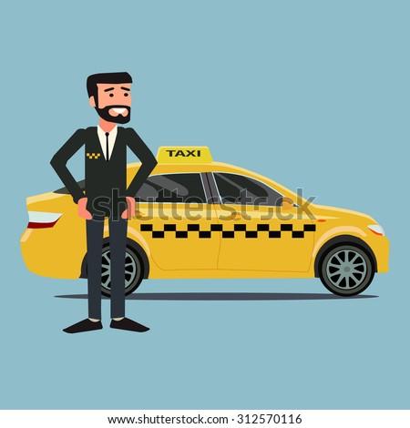 taxi driver - stock vector