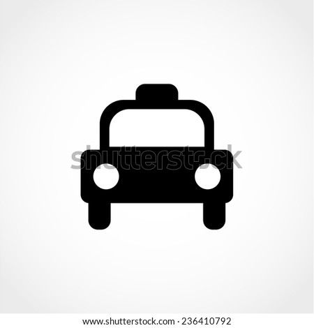 Taxi Icon Isolated on White Background - stock vector