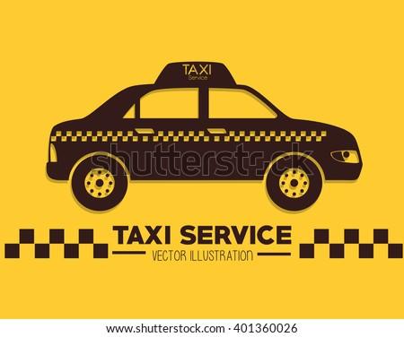 taxi service design  - stock vector
