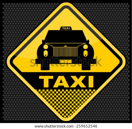 Taxi, sign,  - stock vector