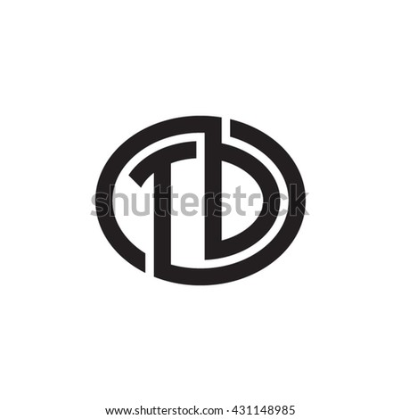 Td Initial Letters Looping Linked Ellipse Stock Photo Photo Vector