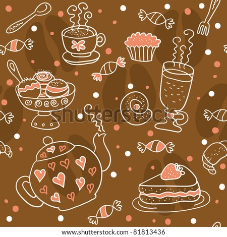 Tea And Coffee Pattern.