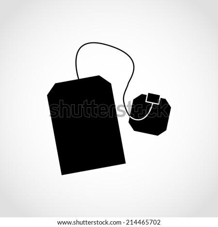 tea bag icon green tea black stock vector 403484323 - shutterstock
