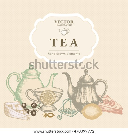 Tea ceremony, tea menu template